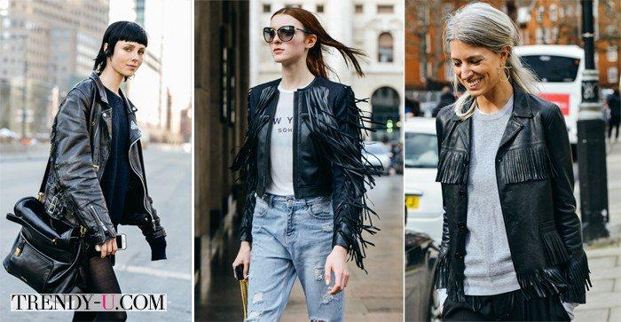 Кожаные куртки и уличный стиль