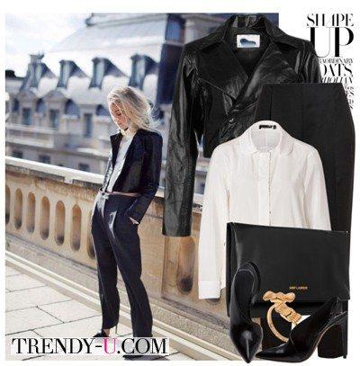 Кожаная куртка-косуха и парадно-выходной стиль