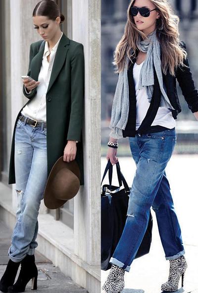 Образы с джинсами для весны и осени 2017 и 2018