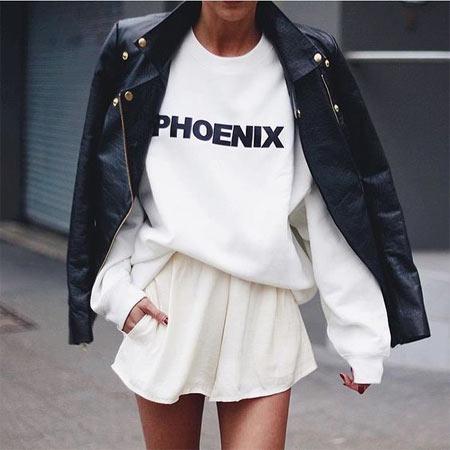 Кожаная куртка: черное и белое