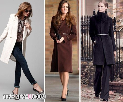Женские пальто классического кроя