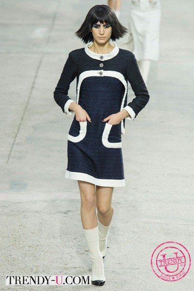 Маленькое черное платье Шанель весна-лето 2014