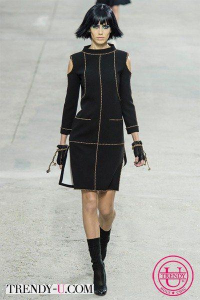 Черное платье Chanel весна-лето 2014