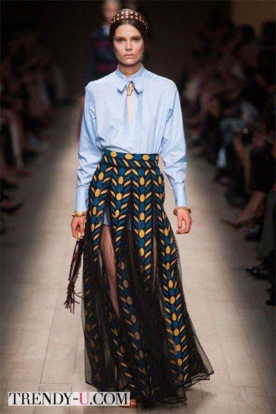 Длинная юбка от Valentino весна-лето 2014