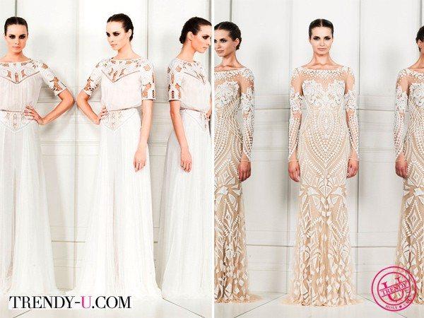 Белое и бежевое платья 2014