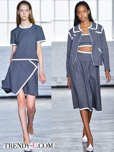 Джинсовые юбки 2014 от Tanya Taylor