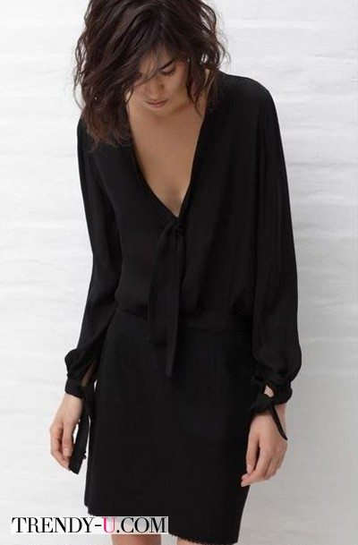 Черное платьице