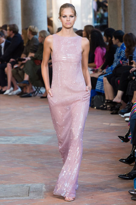 Платье вечернее из коллекции Alberta Ferretti SS 2018