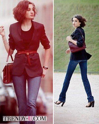 Вот как носят пиджак француженки!
