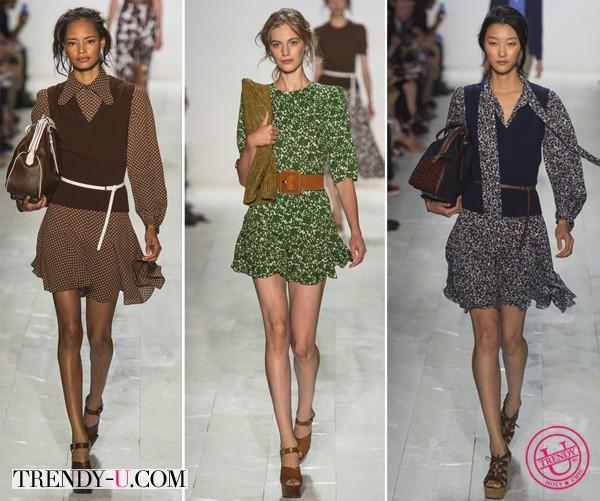 Короткие летние платья весна-лето 2014