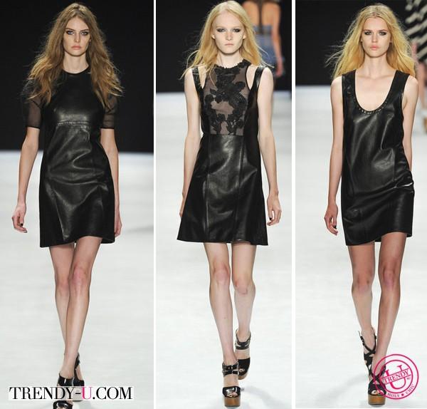 Кожаные платья 2014 от Jil Stuart