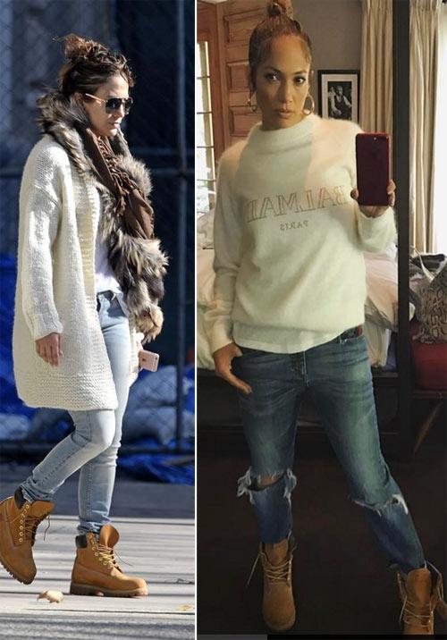 Дженнифер Лопес носит тимберленды