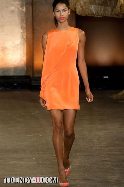 Оранжевое платье 2014