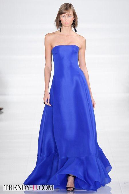 Вечернее платье весна-лето 2014