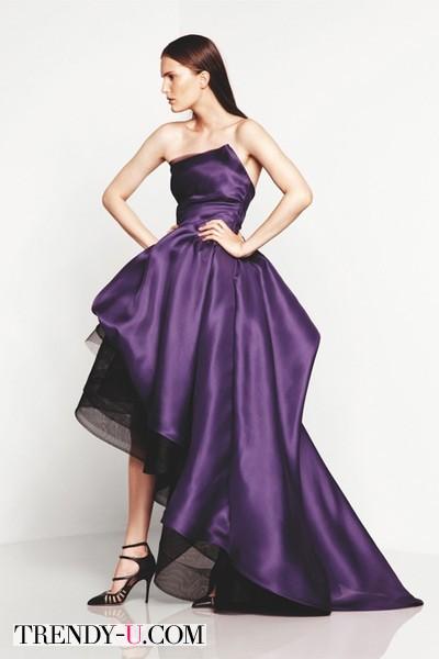 Платье фиолетового цвета (ослепительная орхидея)
