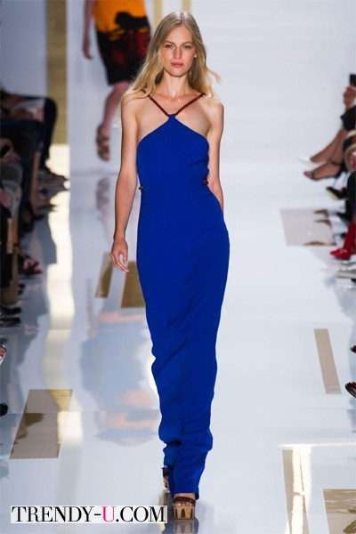 Сарафан модного синего цвета