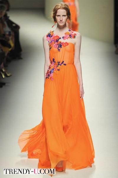 Оранжевый сарафан Alberta Ferreti 2014