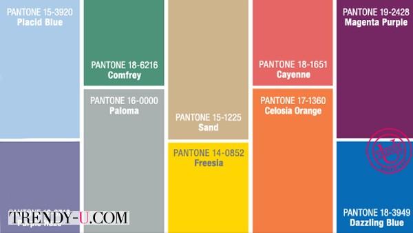 Модные цвета мужской одежды весна-лето 2014 по Пантону