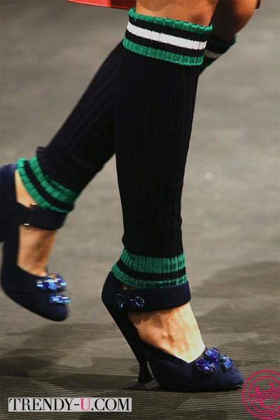 Туфли с острым носком Прада 2014