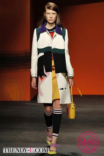 Пальто из коллекции Прада 2014