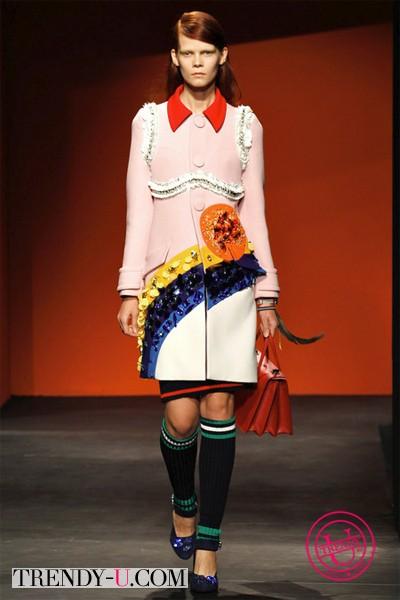 Модное весенне пальто Prada весна-лето 2014