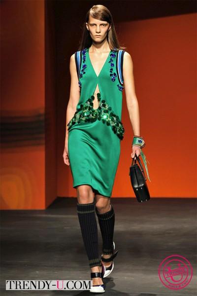Летнее платье Прада 2014