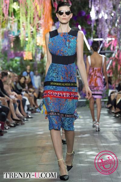 Летнее платье с принтом Dior весна-лето 2014