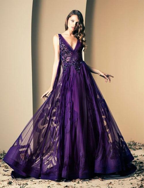 Платье на выпускной самого модного цвета 2018 - ультрафиолет