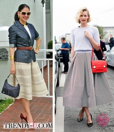 Пышные юбки на красивых женщинах