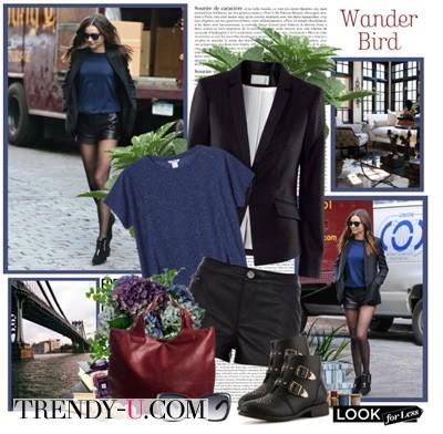Миранда Керр в пиджаке в сочетании с шортами