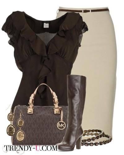 Бежевый и коричневый: стильно и изысканно