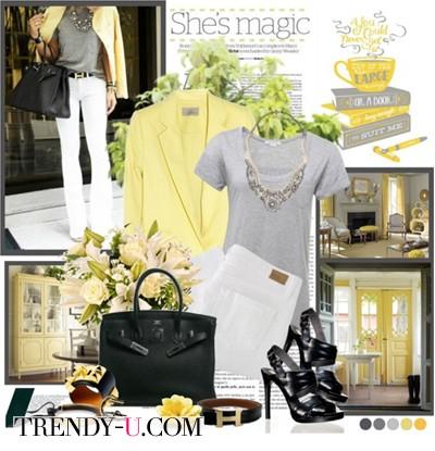 Желтый пиджак нужно носить так!