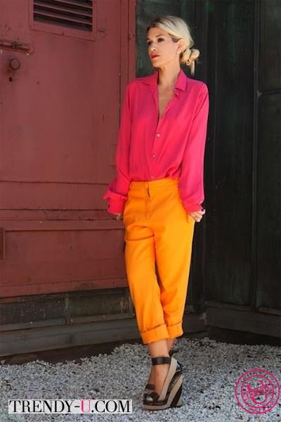 Фуксия и оранжевый