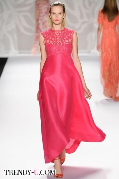 Вечернее платье 2014 модного цвета cayenne
