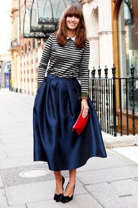 Синяя пышная юбка фото