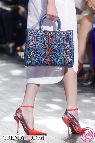 Летние туфли и сумка Диор 2014