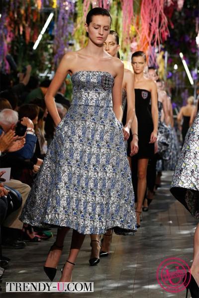 Модное вечернее платье Christian Dior 2014
