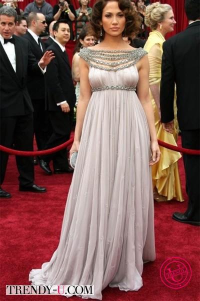 Вечернее платье на полной красавице Дженнифер Лопес