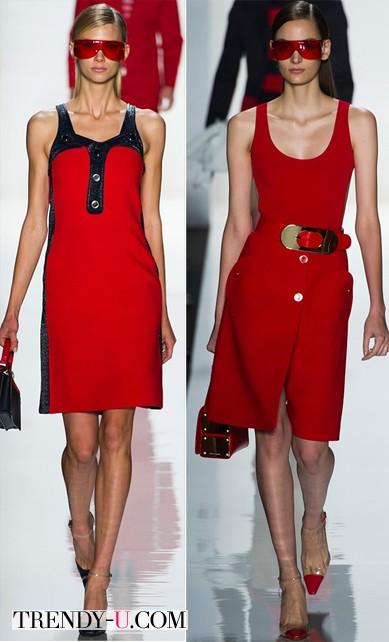 Летние красные платья из коллекции Michael Kors