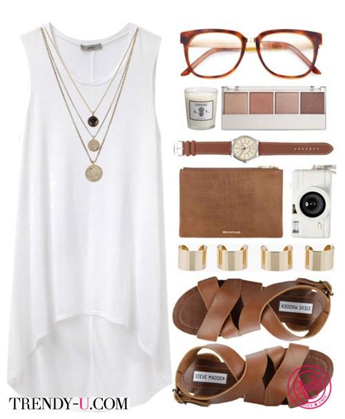 Белое платье для лета