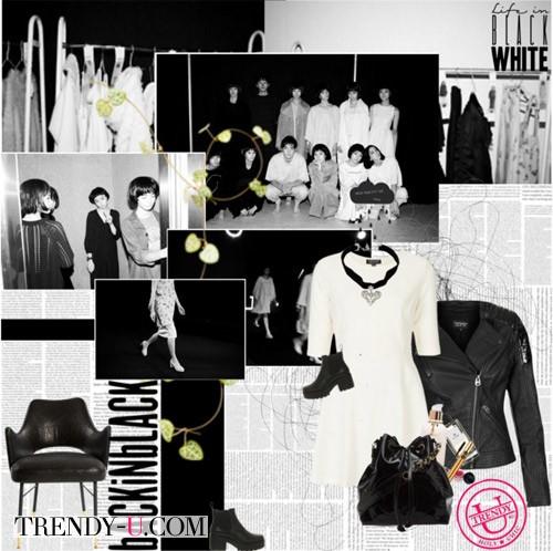 Белое платье - черная косуха
