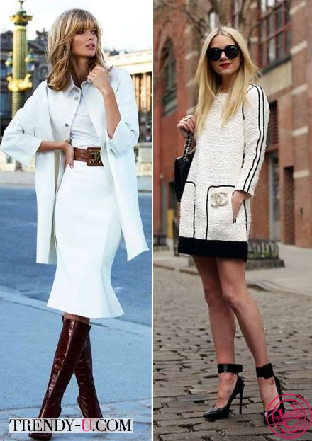 Стильные девушки в белых платьях