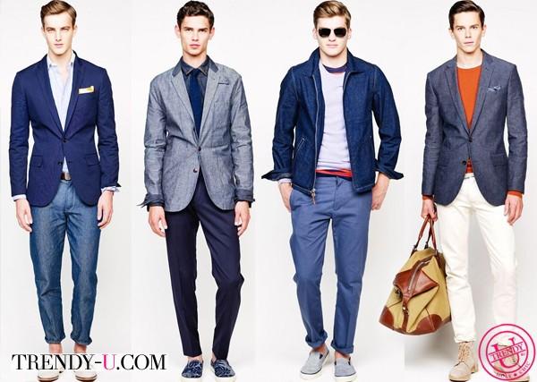Джинсовая одежда в стиле Smart Casual by J.Crew весна-лето 2014