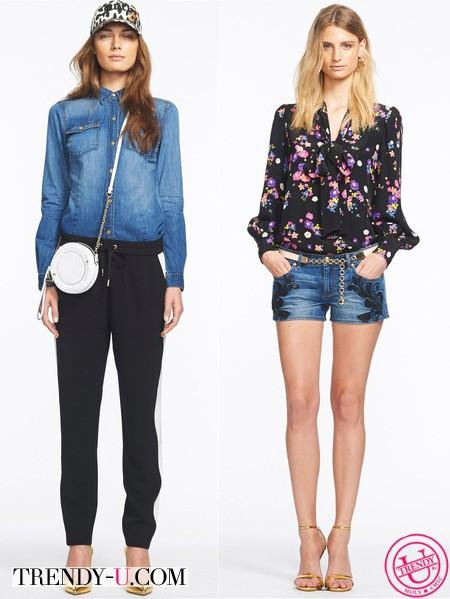 Джинсовая рубашка и шорты в спортивном стиле Juicy Couture 2014