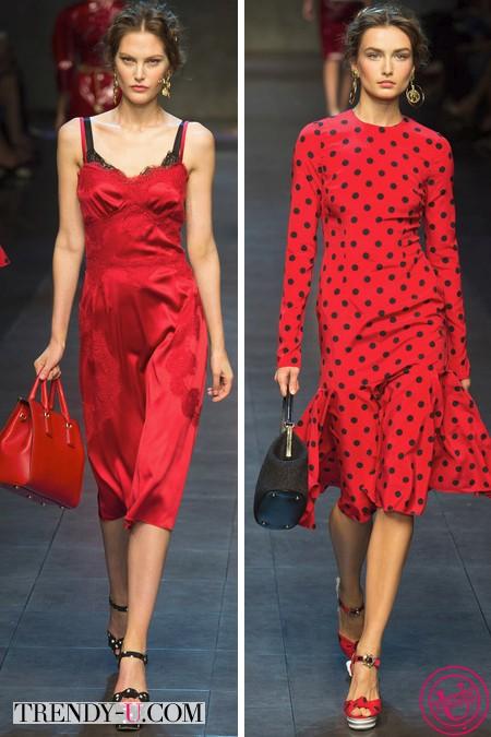 Аксессуары черно-красное платье