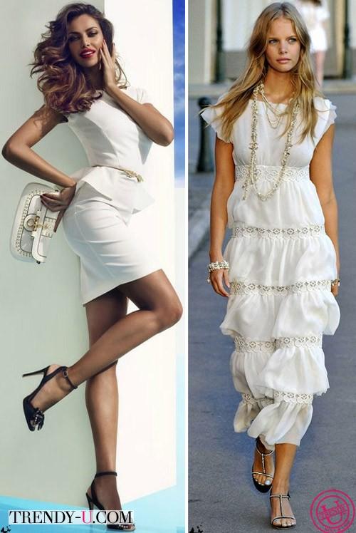 Красивые девушки в белых платьях