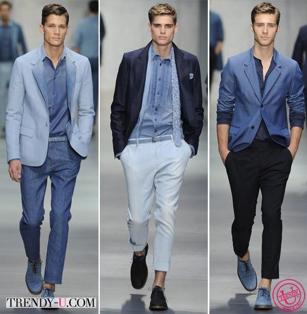 Джинсовые пиджаки, рубашки и брюки, Ermanno Scervino весна-лето 2014