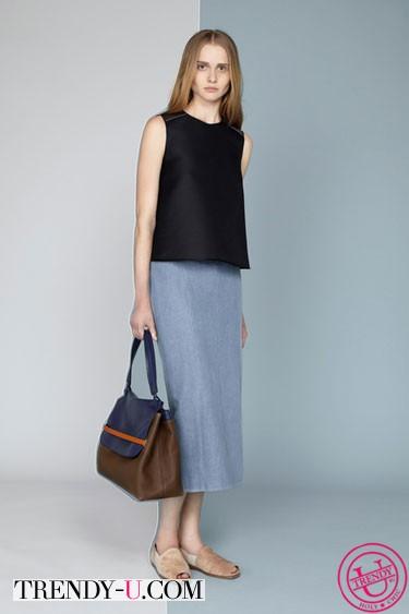 Длинная джинсовая юбка весна-лето 2014 The Row