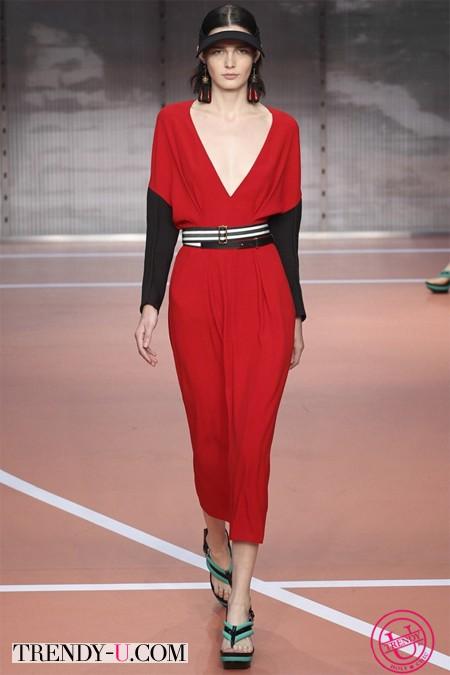 Модное красное платье от Marni 2014