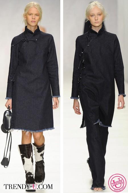 Модные платья из джинса весна-лето 2014